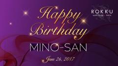 Happy Birthday Mino San