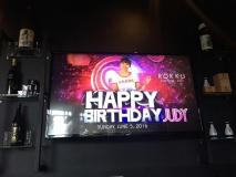 JUDY'S CELEBRATING BIRTHDAY