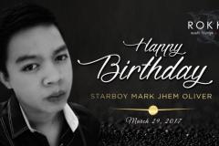 Mark Jhem Oliver's Birthday