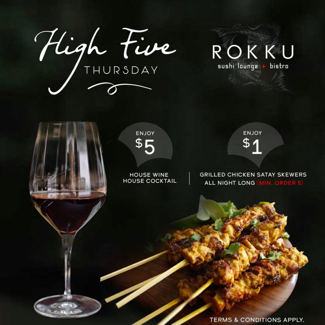 HIGH FIVE THURSDAY AT ROKKU ON MARCH 4TH