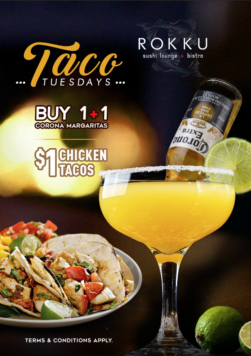 TACO TUESDAYS AT ROKKU ON APRIL 13TH