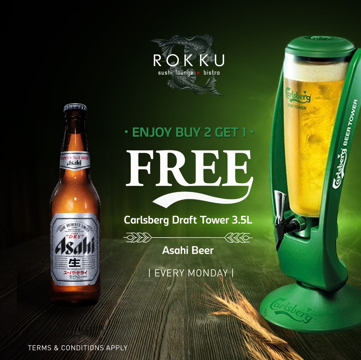 HAPPY HOUR MONDAYS AT ROKKU ON APRIL 12TH